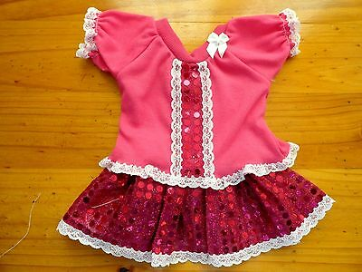 Baby Born Dolls A Skirt And Top With Sequins In Hot Pink & Hot Pink