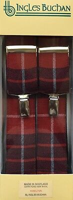 Gents Scottish Clan Trouser Braces Available in Various Tartans Made in Scotland