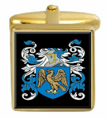Select Gifts Beckett England Heraldry Crest Sterling Silver Cufflinks Engraved Message Box