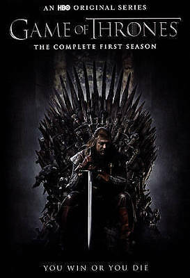 Game of Thrones: The Complete First Season (DVD, Slim case, 5-Disc Set) New