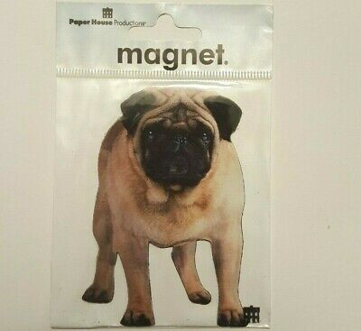 "NEW 3.5 /"" PUG Funny Happy Dog Day Refrigerator Tool Box Locker Magnet Dog Lovers"