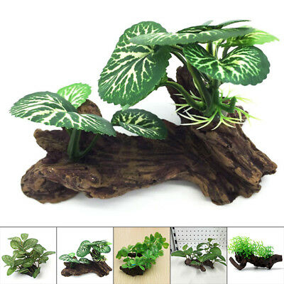 Artificial Water Plants Faux Plastic Tree Grass For Fish Tank Decor Landscape