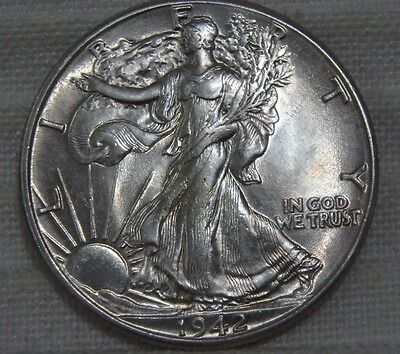 1942-P Walking Liberty Half Dollar AU About Uncirculated