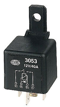 Hella Normally Open Relay with Diode - 4 Pin, 12V DC 3053