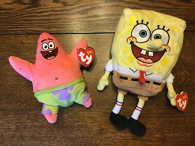 da6b5d25732 Ty SpongeBob Beanie Babies - SpongeBob and Patrick Star - 2004 - With Hang  Tags