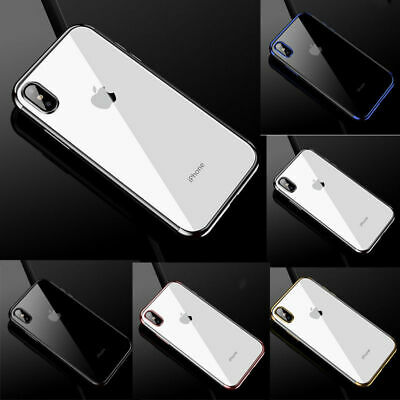 6 Plated X Case Soft Phone Plus For XS Cover TPU XR Back 8 7 iPhone MAX Silicone