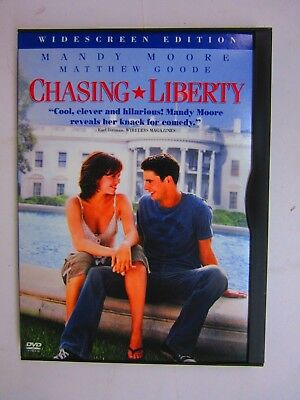 Chasing Liberty - Mandy Moore (DVD, 2004, Widescreen, Snapcase)  FREE SHIPPING