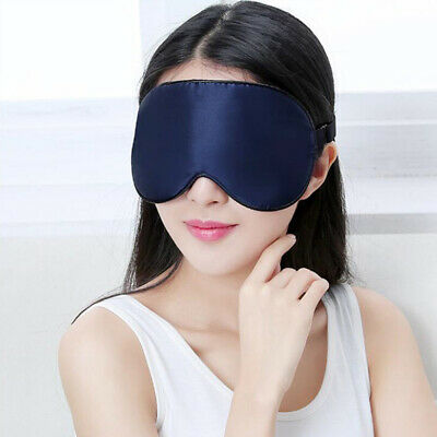 Travel Silk Eye Mask Padded Sleep Aid Soft Shade Cover Rest Relax Blindfold