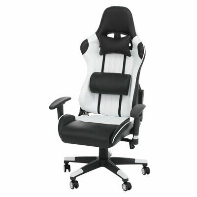 New Gaming Chair Adjustable Fx Leather Racing Office Executive Recliner UK