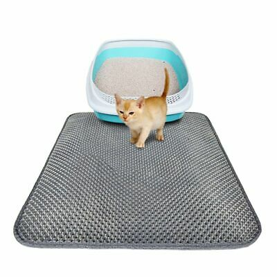AU Pet Cat Double Layer Litter Pad Mat Large Flexible Trapping for litter Box