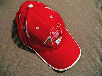 9a4f8e7445647 2008 Beijing China Summer Olympics Coca Cola Hat - Red White w adjustable  Strap