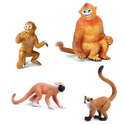Snub-nosed Monkey Squirrel Monkey Langur Animal Figure Model Toy Collector Gift