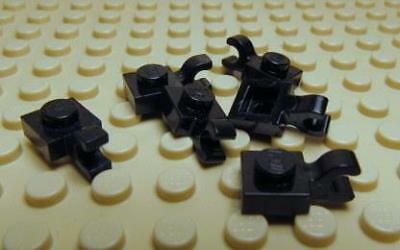 LEGO LOT OF 100 NEW BLACK CLIPS 1 X 1 PLATES MODIFIED PIECES