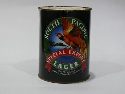 Vintage South Pacific Export Lager Tin Beer Can Holder