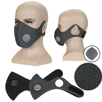 Outdoor Anti Smoke Dust Pollen Air Purifying Face Mask Activated Carbon Filter