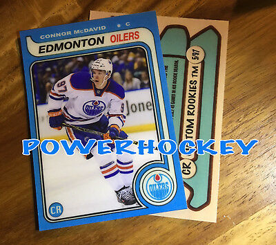 Custom Connor McDavid ROOKIE 1979-80 OPC Style High Quality card only 97 made RC