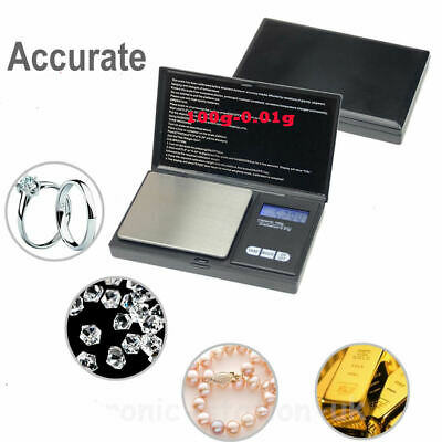 0.01G-100G Digital Pocket Weighing Mini Scales Gold Kitchen Jewellery Scale Herb