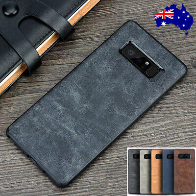 For Samsung Galaxy S10 5G S10+ S10e S9 S8 Note 9/8 Slim Leather Back Case Cover