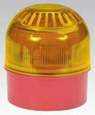 Klaxon SOUNDER WITH LED BEACON KLXKL2496A 17-60VDC 106dB Polycarbonate RED/AMBER