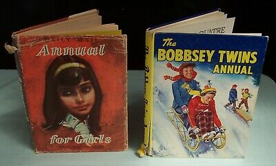 Vintage Girls Books x 2  The Bobbsey Twins Annual  & Daily Mail Annual For Girls