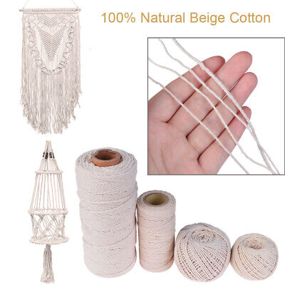 Decor Christmas Twine String 100% Natural Beige Cotton Sewing Cords DIY Rope