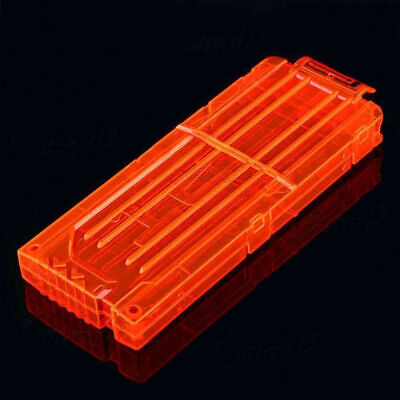 12 Reload Darts Clip Replacement Blaster Quick System For Nerf N-strike Elite
