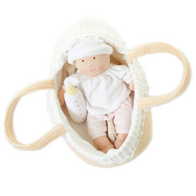 NEW Bonikka Grace Baby Rag Doll with Cot and Blanket