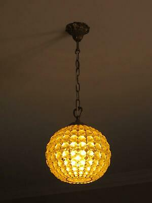 Crystal Ball With Brass Fittings Ceiling Light.
