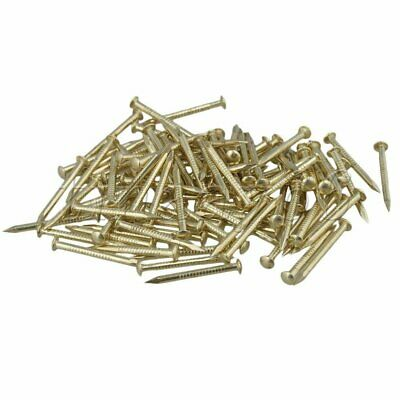 100Pcs Antique Brass Round Head Copper Nail for Home Furniture Hinge
