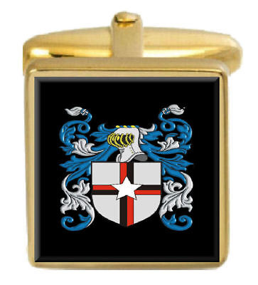 Select Gifts Lasenby England Heraldry Crest Sterling Silver Cufflinks Engraved Message Box