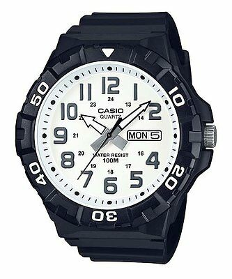 MRW-210H-7A Black Casio Men's Watches Resin Band Analog New