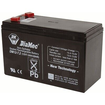 12V 7.2Ah Rechargeable SLA Battery NBN Diamec