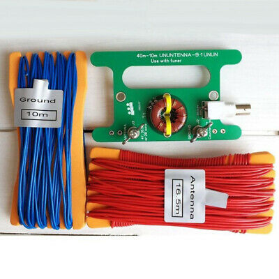 BNC Interface Antenna Circuit Board+cable Wire 40m-10m UNUNTENNA 10W Practical
