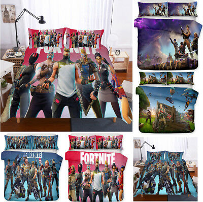 3D Fortnite Game Battle Royale Bedding Sets 2PC/3PC Duvet Cover & Pillowcase~UK~