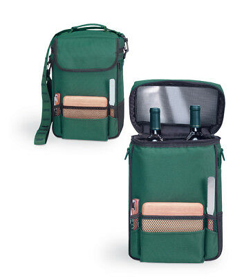 Picnic Time Bottle Wine Tote Bag, Insulated And Padded Portable Cooler Carrier