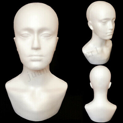 Polystyrene Foam Unisex Male Female Display Mannequin Head Dummy Wig Stand !