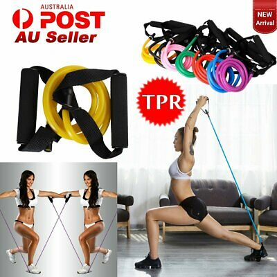 2Pcs Fitness Resistance Bands Workout Exercise Gym Home Yoga Crossfit Power Tube