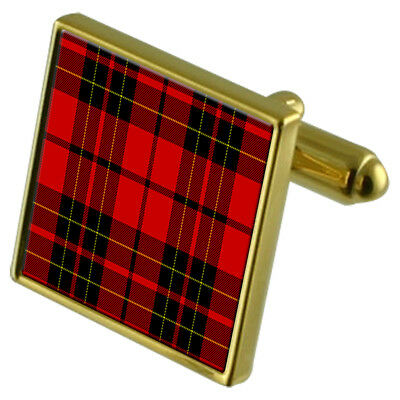 Select Gifts Tartan Clan Leslie Sterling Silver Cufflinks Engraved Box