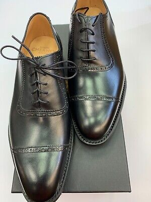 e8330b3c22026 CHEANEY LIME MENS Classic Oxford in Black Calf Leather