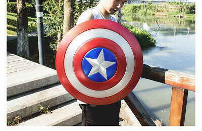Custom 1/1 Scale Aluminum Alloy Captain America's Shield Cosplay Prop Model Toy