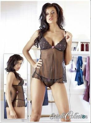 """Babydoll """"Butterfly"""" - Sexy lingerie - Hard - Nero - taglia S, M, L, XL - intimo"""