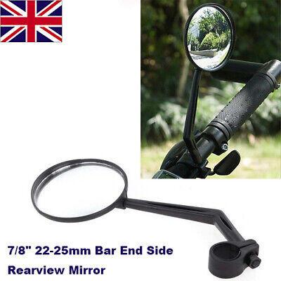 "1 X 7/8"" 22-25mm Universal Handlebar Bar End Rear View Mirror Motorcycle Bike"