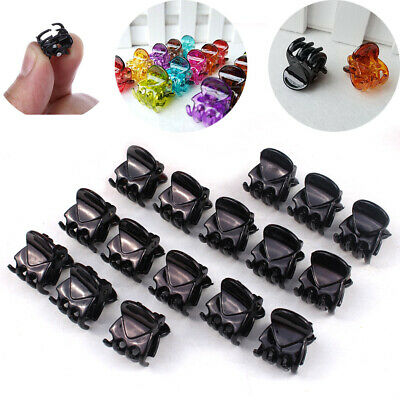 12Pcs/sets Mixed Crab Hair Girls Plastic Mini Hairpin Claws Hair Clip Clamp
