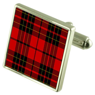Select Gifts Tartan Clan Ramsay Gold Cufflinks in Engraved Personalised Case