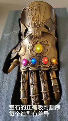 Custom HCMY 1/1 Cosplay Metal Thanos Infinity Gauntlet With LED New In Stock