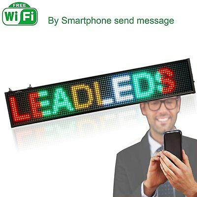 Leadleds SMD LED Sign Display Board WIFI Programmable Scrolling Message fr Store