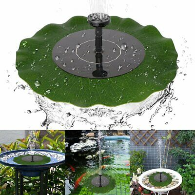 SOLAR POWERED FOUNTAIN Water Pump Floating Garden Pond Pool Fish