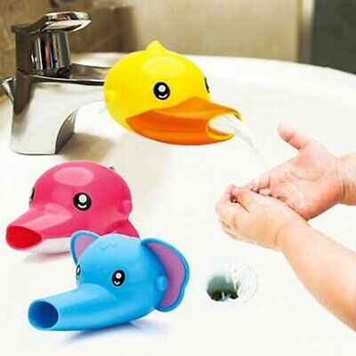 Animals Faucet Extender Kids Cute Happy Fun Tubs Baby Hand Washing Bathroom Sink