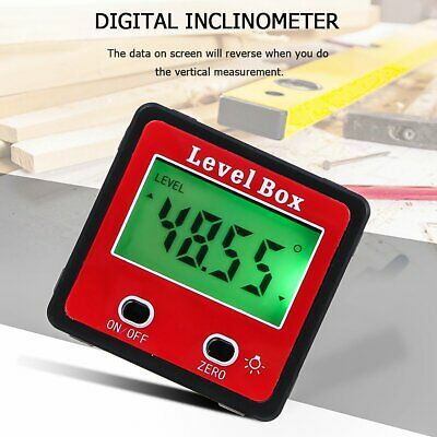 Digital Inclinometer Level Box Protractor Angle Finder Gauge Meter Bevel Tool