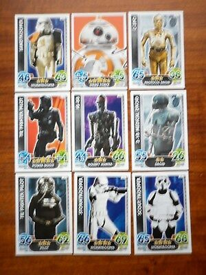 Star Wars - Force Attax Lot Of 9  (Topps collector cards) Lot 8